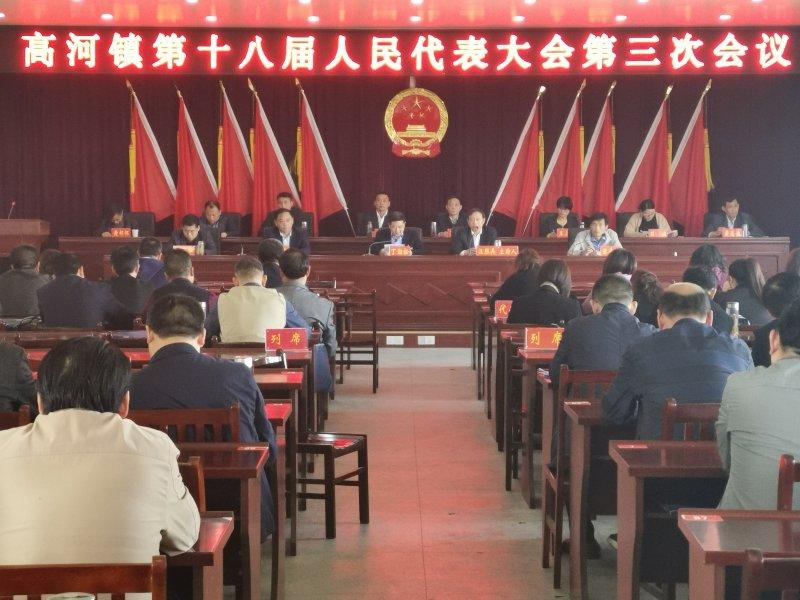 高河镇召开第十八届人民代表大会第三次